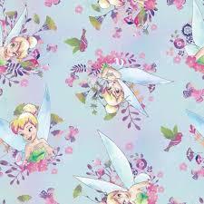 Tinkerbell Rug Disney Fabric Disney Tinker Bell Fabric Tinkerbell Watercolor