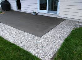 Diy Cement Patio by Diy Concrete Patio Cover Ups The Garden Glove Within Old Concrete