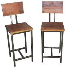 White Wood Bar Stool Collection In Wooden Bar Stool With Back Rustic Lodge Log And