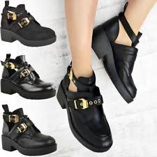 low heel popular cut pu leather boots boots increase womens faux leather strappy cut out zipper top black biker