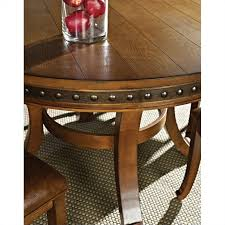 steve silver company ashbrook round dining table in oak ab480t