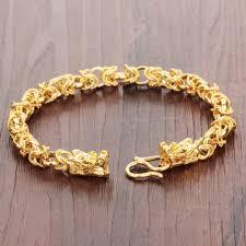 luxury man bracelet images Opk luxury gold color mans bracelets punk style dragon heads mens jpg