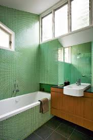 bathroom paint tile bathroom glass subway tile green painting