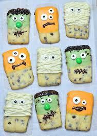 halloween monsters shortbread cookies omg chocolate desserts