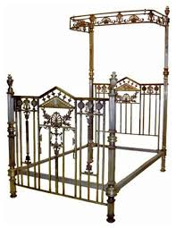 detailed 19th century silver over brass bed frame panel beds