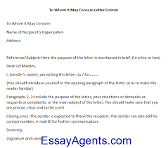 how to write to whom it may concern letter format essayagents