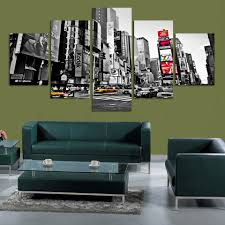 home decor paintings for sale fashion modular decoration home decor painting canvas 5 panel city