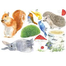 animals fabric wall stickers woodlands animals fabric wall stickers