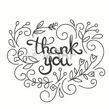 thank you card lettering design greeting card with