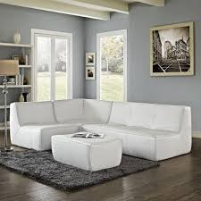 Black And White Sectional Sofa Furniture White Curved Sectional Sofa With Black Cushions For With