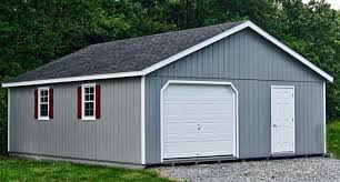 24 36 custom garage with log sidingprefab 2 car california prefab