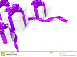 bows for gift boxes white gift box with purple ribbon bow stock photo image of silk