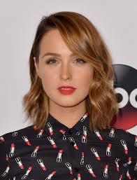 medium length hairstyles brown hair camilla luddington shoulder length hairstyles looks stylebistro