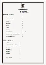 new resume format free resume format for marriage free biodata format for