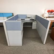Teknion Reception Desk Used Teknion Leverage 6x8 Cubicle Pnl1497 028 Office Furniture