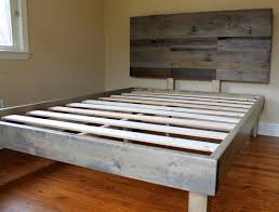 Minimalist Bed Frame Charming Grey Wood Headboard Also Nrd Homes Of Pictures Reclaimed