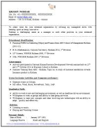 Sample Resume For Mba Finance Freshers by Best 25 Resume Format For Freshers Ideas On Pinterest Resume