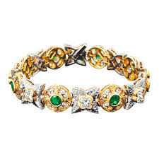 emerald bracelet images Emerald and diamond bracelet by beaudry jewelry since 1912 png