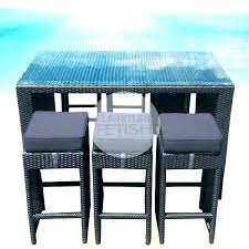 tall patio table and chairs pub style patio furniture new bar great