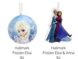 hallmark frozen ornaments just 2 each free shipping or in store