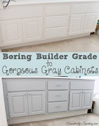 Painting A Bathroom Cabinet - builder boring to gorgeous gray cabinets domestically speaking