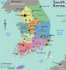 Seas Of The World Map by Maps Of South Korea Detailed Map Of South Korea In English
