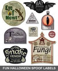 toads place halloween party fun halloween spoof labels set 4 u2014 stock vector janeh15 20458425