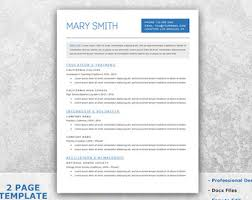 Academic Resume Template Word One Page Resume Template Word Resume Cover Letter Templates