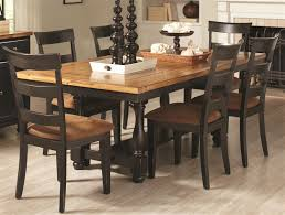 Coaster Dining Room Sets Charlotte 5 Piece Dining Table Set In Rustic Amber Black Two Tone