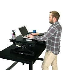 Adjustable Height Computer Desks by Standee Boost Adjustable Desktop Standing Desk Combo Pack Standeeco