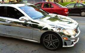 chrome benz chrome mercedes benz s63 on miami beach exotic cars on the
