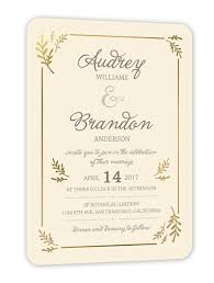 wedding invitations shutterfly botanical border 5x7 wedding invitations shutterfly