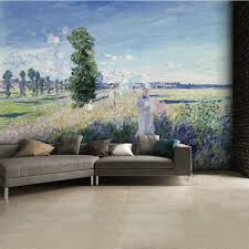 landscape wall murals chois wm4238 landscape wall mural forest monet argenteuil summer walk wall mural 315cm x 232cm claude monet argenteuil summer walk wall mural