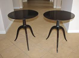 dark walnut end table pair of paul frankl tripod dark walnut end side tables for sale at