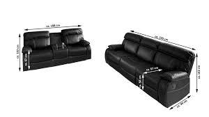 sofa garnitur 3 teilig gã nstig samar polstermapbel couchgarnitur schwarz sofa 2 tlg emanuel