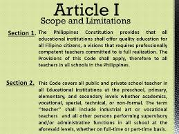 Counseling Code Of Ethics Philippines Code Of Ethics For Professional Teachers Ppt