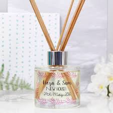 personalised new home reed diffuser gift set by olivia morgan ltd