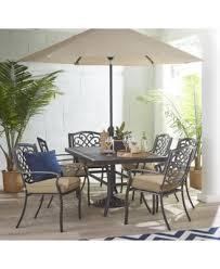 Macys Patio Dining Sets Park Gate Outdoor Cast Aluminum 7 Pc Dining Set 68