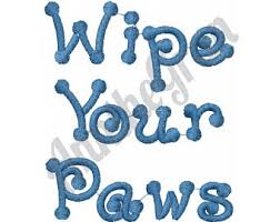 Wipe Your Paws Mat Decorative Wipe Your Paws Mat Etsy