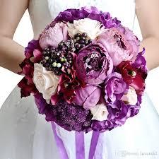 purple wedding flowers 2018 hot sale marriage wedding flowers purple wedding bouquets