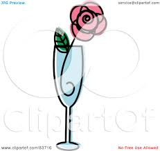 champagne glasses clipart royalty free rf clipart illustration of a pink rose in a