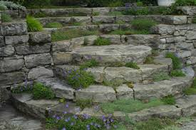 Alpine Rock Garden by Les Quatre Vents Curved And Circular Steps Fine Gardening