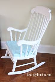 White Rocking Chair Grandpa U0027s Rocking Chair Brightened Up For New Baby Nursery The