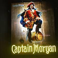 captain morgan neon bar light captain morgan rum vivid neon sign 24x20 124ws417wsn 210 00