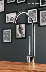 modern kitchen faucet with red wall stainless dishwasher