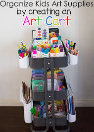 organize kids art supplies with an art cart ikea art organize