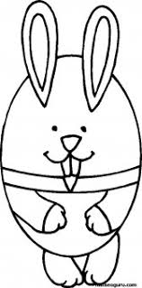 printable easter bunny egg coloring kids printable
