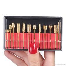 makartt nail electric carbide drill bits gold nail manicure nail