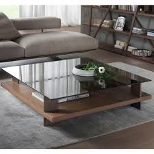 Glass And Wood Coffee Table by Square Coffee Table Low Furniture Glass Tables Toronto Masterpl