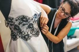wedding dress maker how to work with a dressmaker to make your wedding dress